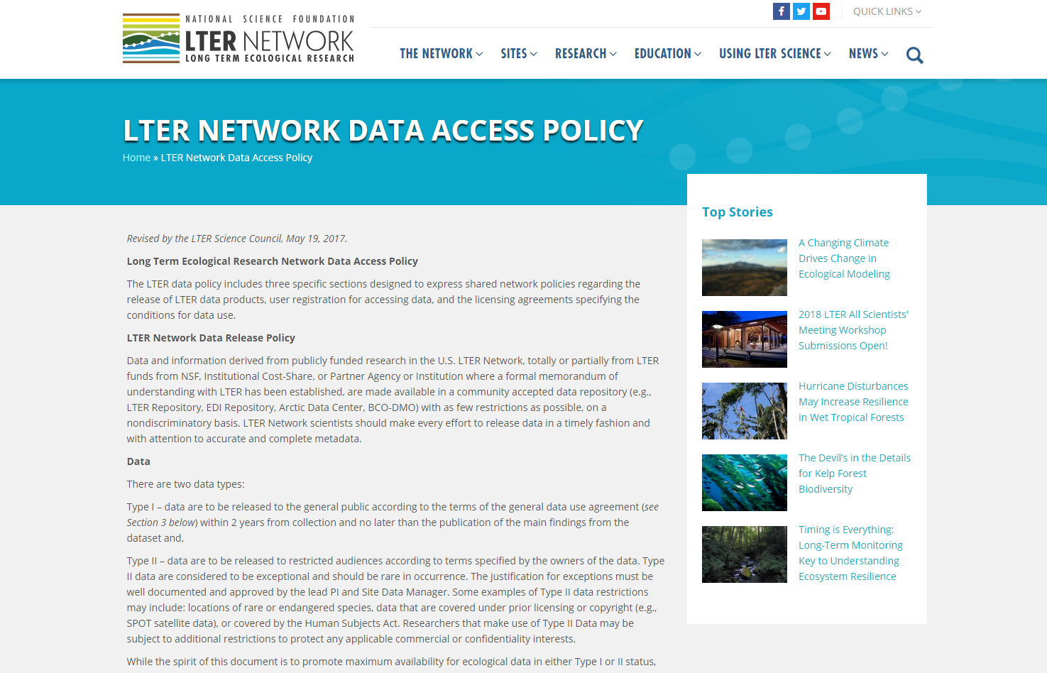 Data policy